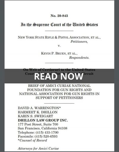 Amicus brief in NYSRPA v. Bruen by National Foundation for Gun Rights